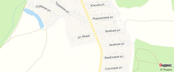 Улица Мира на карте деревни Урняка с номерами домов