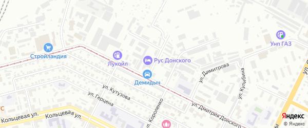 Севастопольская улица на карте Уфы с номерами домов