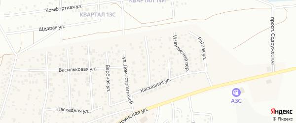 Арбузный 2-й переулок на карте деревни Карпово с номерами домов