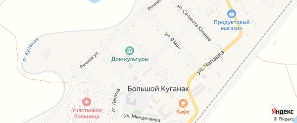 Улица Ленина на карте села Большого Куганака с номерами домов