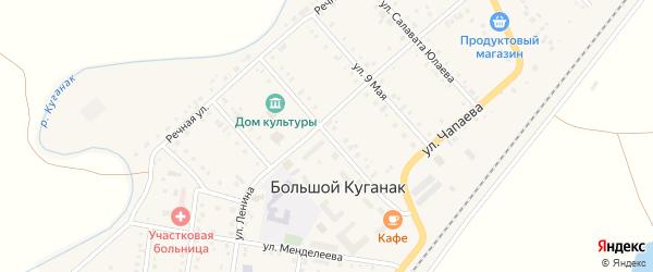 Фестивальная улица на карте села Большого Куганака с номерами домов
