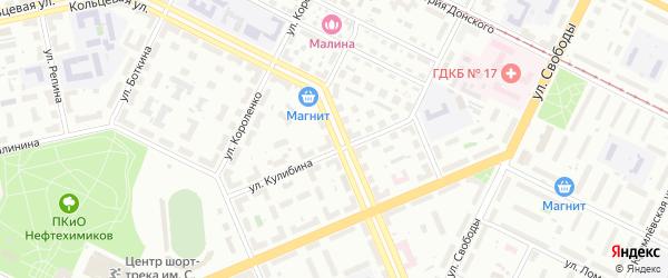 Кольцевая улица на карте Уфы с номерами домов