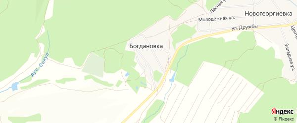 Карта деревни Богдановки в Башкортостане с улицами и номерами домов