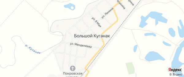 СНТ Куганак на карте Стерлитамакского района с номерами домов
