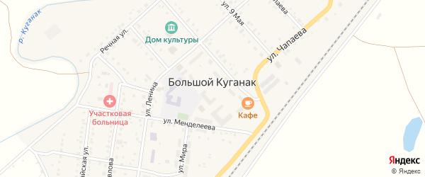 Улица Мишенёва на карте села Большого Куганака с номерами домов