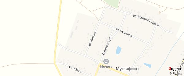 Улица Кирова на карте деревни Мустафино с номерами домов