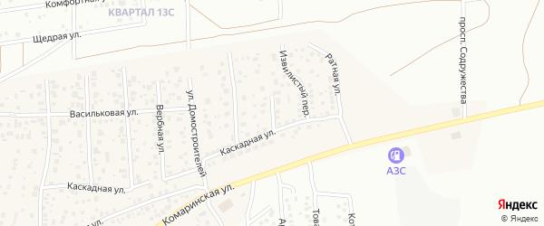 Арбузный 1-й переулок на карте деревни Карпово с номерами домов
