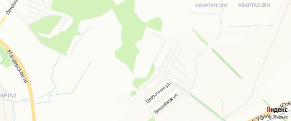 СНТ Студенный ключ на карте Уфы с номерами домов
