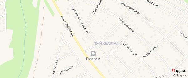 Улица Механизаторов на карте села Нагаево с номерами домов