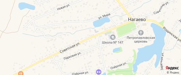 Советская улица на карте села Нагаево с номерами домов