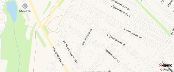 Цыганская улица на карте села Нагаево с номерами домов