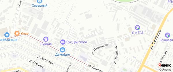 Улица Буревестника на карте Уфы с номерами домов