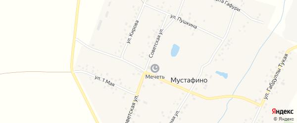 Улица 7 Ноября на карте деревни Мустафино с номерами домов