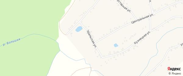 Уральская улица на карте села Бишкаина с номерами домов