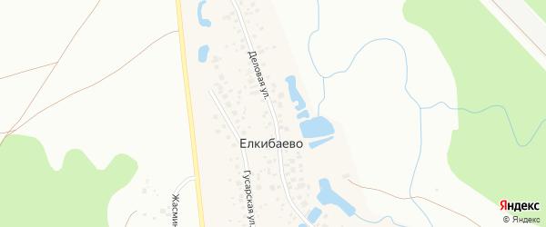 Деловая улица на карте деревни Елкибаево с номерами домов