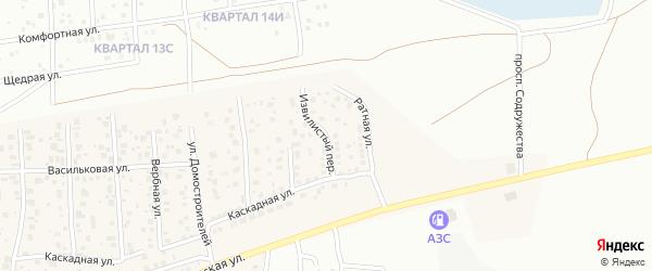 Извилистый переулок на карте деревни Карпово с номерами домов