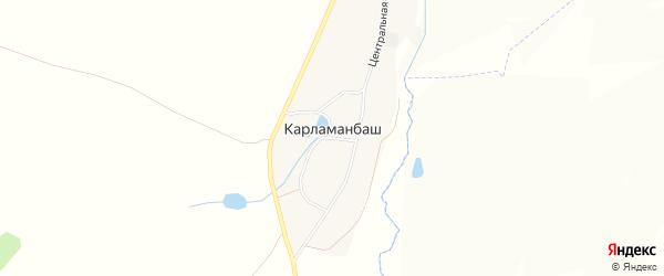 Карта деревни Карламанбаша в Башкортостане с улицами и номерами домов