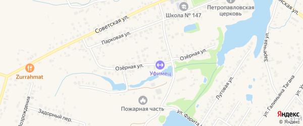 Озерная улица на карте села Нагаево с номерами домов
