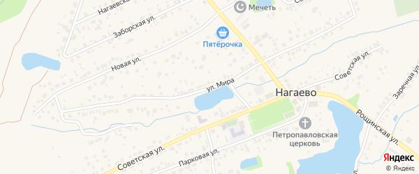 Улица Мира на карте села Нагаево с номерами домов
