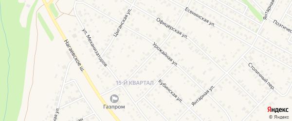 Русская улица на карте села Нагаево с номерами домов