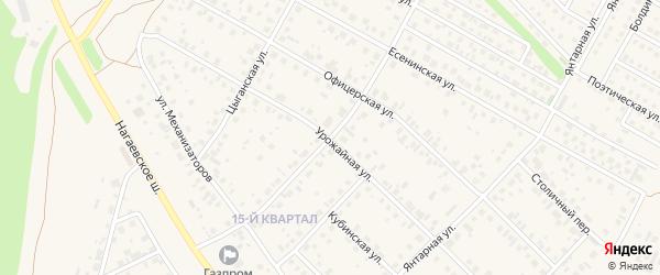 Урожайная улица на карте села Нагаево с номерами домов
