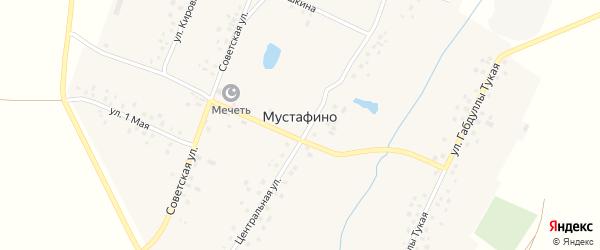 Улица М.Гафури на карте деревни Мустафино с номерами домов