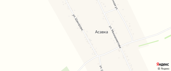 Улица У.Шакирова на карте деревни Асавки с номерами домов