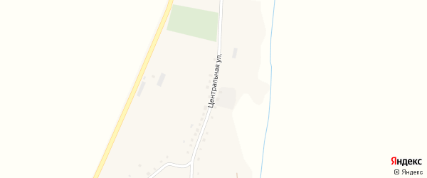 Центральная улица на карте деревни Карламанбаша с номерами домов