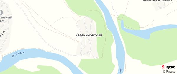 Карта деревни Катениновского в Башкортостане с улицами и номерами домов