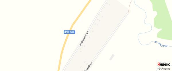 Заречная улица на карте деревни Староарзаматово с номерами домов