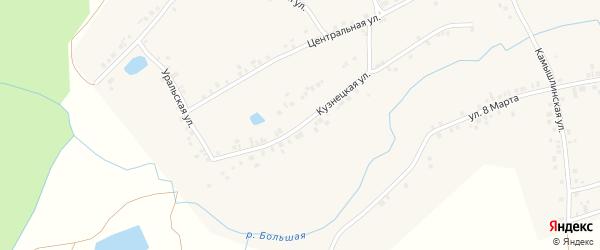 Кузнецкая улица на карте села Бишкаина с номерами домов