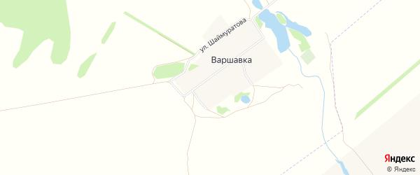 Карта деревни Варшавки в Башкортостане с улицами и номерами домов
