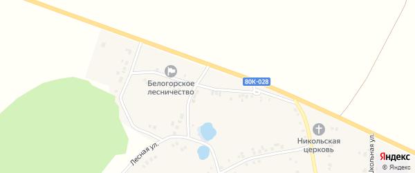 Шоссейная улица на карте села Бишкаина с номерами домов