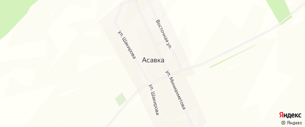 Карта деревни Асавки в Башкортостане с улицами и номерами домов