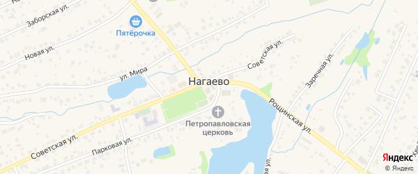 1-й Диагональный переулок на карте села Нагаево с номерами домов
