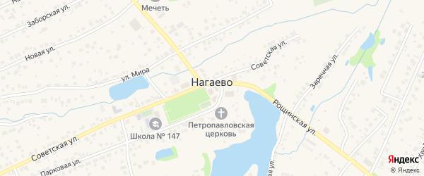 Улица Батырши Алиева на карте села Нагаево с номерами домов