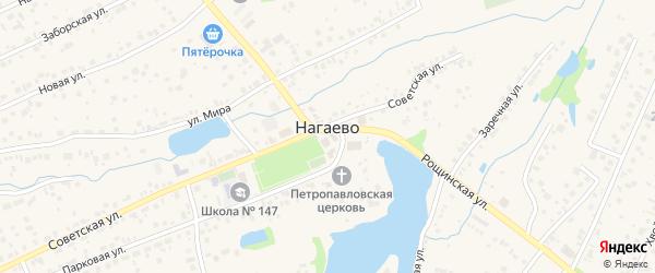 Отрадная улица на карте села Нагаево с номерами домов