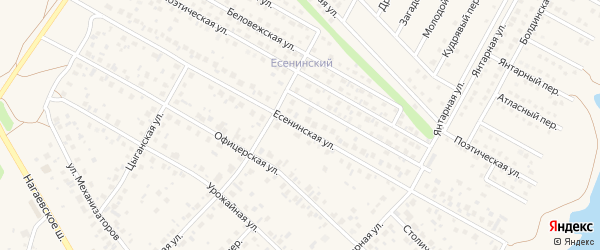 Есенинская улица на карте села Нагаево с номерами домов