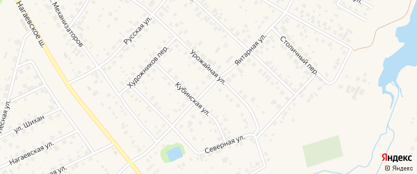Янтарная улица на карте села Нагаево с номерами домов