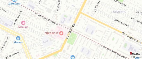Улица Свободы на карте Уфы с номерами домов