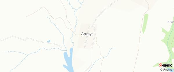 Карта деревни Аркаула города Уфы в Башкортостане с улицами и номерами домов