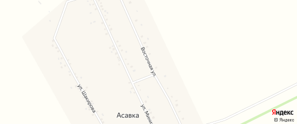 Восточная улица на карте деревни Асавки с номерами домов