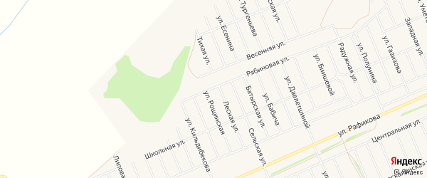СНТ Восход на карте Кармаскалинского района с номерами домов