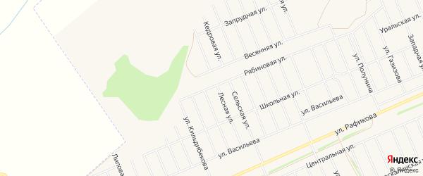 СНТ Лесное-5 на карте Кармаскалинского района с номерами домов