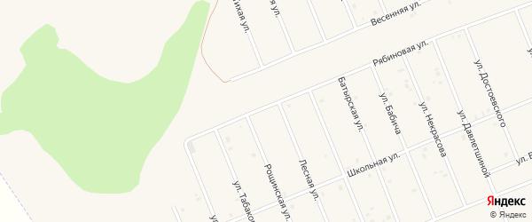 Железнодорожная улица на карте деревни Станции Тазларово с номерами домов