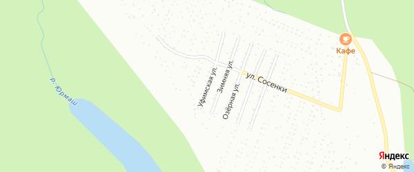 Уфимская улица на карте Октябрьского с номерами домов