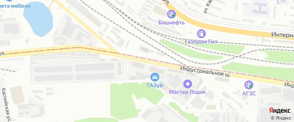 Улица Индустриальное шоссе на карте Уфы с номерами домов