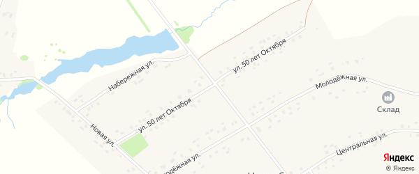 Улица 50 лет Октября на карте села Нижнебалтачево с номерами домов