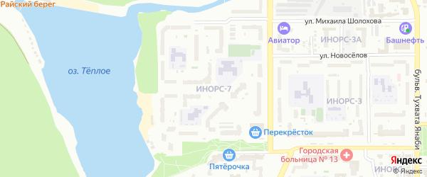7-й микрорайон на карте Октябрьского с номерами домов