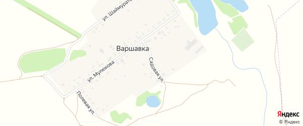 Садовая улица на карте деревни Варшавки с номерами домов
